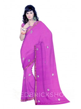 GOTA PATTI MAUVE COTTON KOTA SAREE