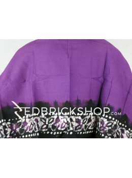 BATIK PURPLE, BLACK, WHITE COTTON BLOUSE PIECE