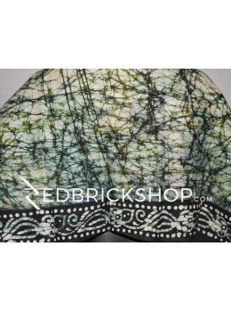 BATIK LIGHT GREEN, DARK GREEN, BLACK, WHITE COTTON BLOUSE PIECE