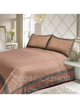 BAGRU BLOCK PRINT SMALL TREE BEIGE, BLACK, MAROON BED COVER SET- 1 DOUBLE BED COVER AND 2 PILLOW CASES