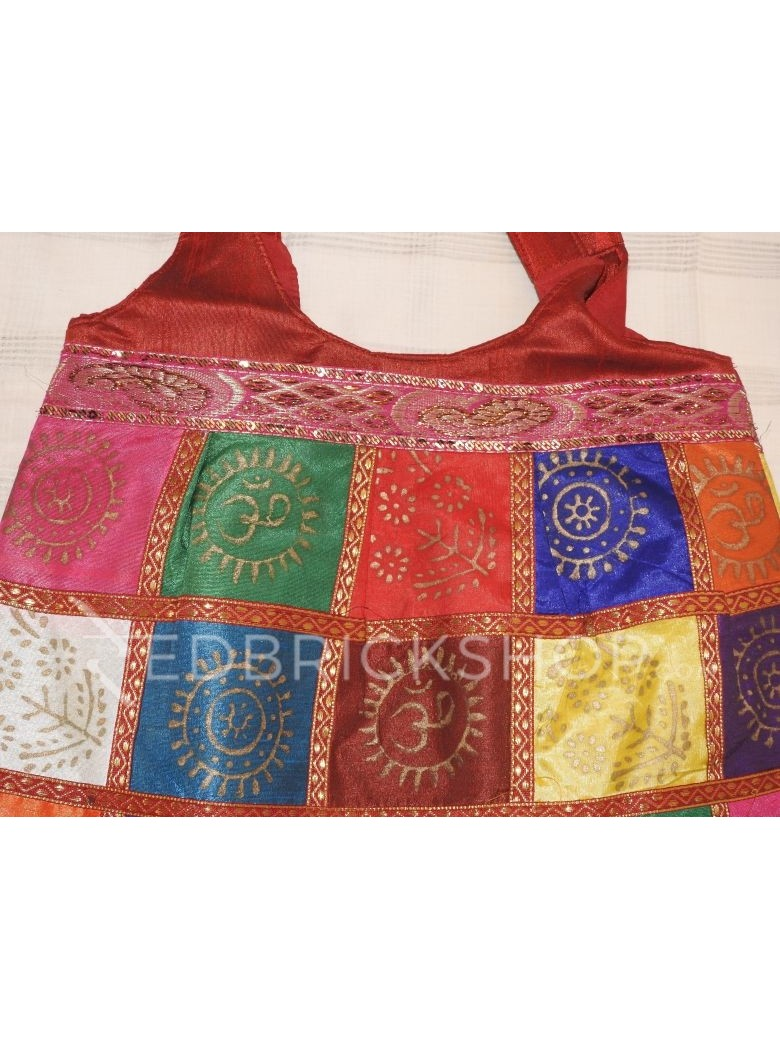 JAIPURI PRINT MULTI RED JHOLA BAG