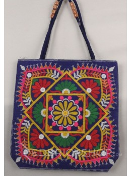 DIAMOND DOME BLUE, MULTI KUTCHI JHOLA BAG