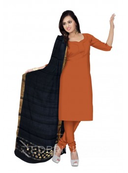 CHANDERI PLAIN DROP BORDER BLACK DUPATTA
