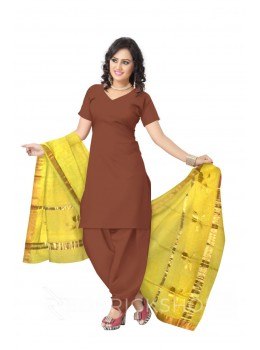CHANDERI LOTUS STRIPE YELLOW DUPATTA