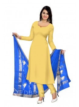 CHANDERI PLAIN BIRD BLUE DUPATTA