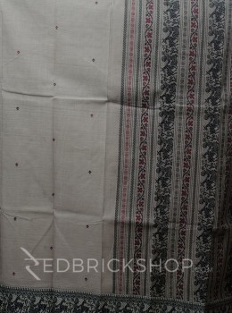 BALUCHARI GREY-BLACK-MAROON COTTON SAREE