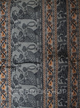 BALUCHARI GREY-RUST-BLACK COTTON SAREE