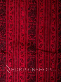 BALUCHARI RED-BLACK COTTON SAREE