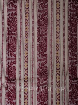 BALUCHARI CREAM-MUSTARD-MAROON COTTON SAREE