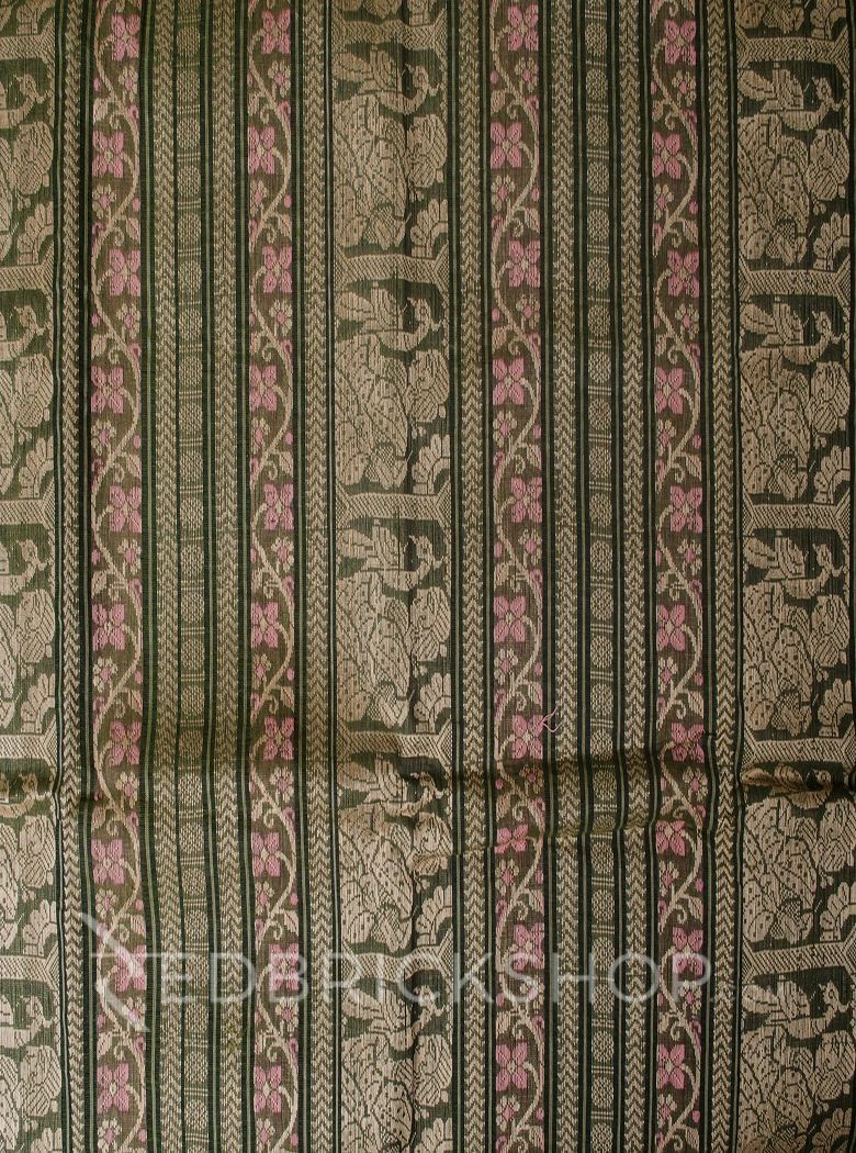 BALUCHARI OLIVE-PINK-CREAM COTTON SAREE