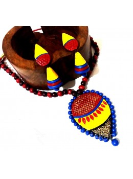 TERRACOTTA DROP RED-BLUE-YELLOW SET