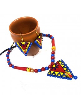 TERRACOTTA TRIANGLE RED-BLUE-YELLOW SET
