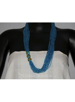 BLUE POTTERY POTHA BLUE NECKLACE