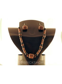 BAMBOO DHOLAK BLACK BROWN SET
