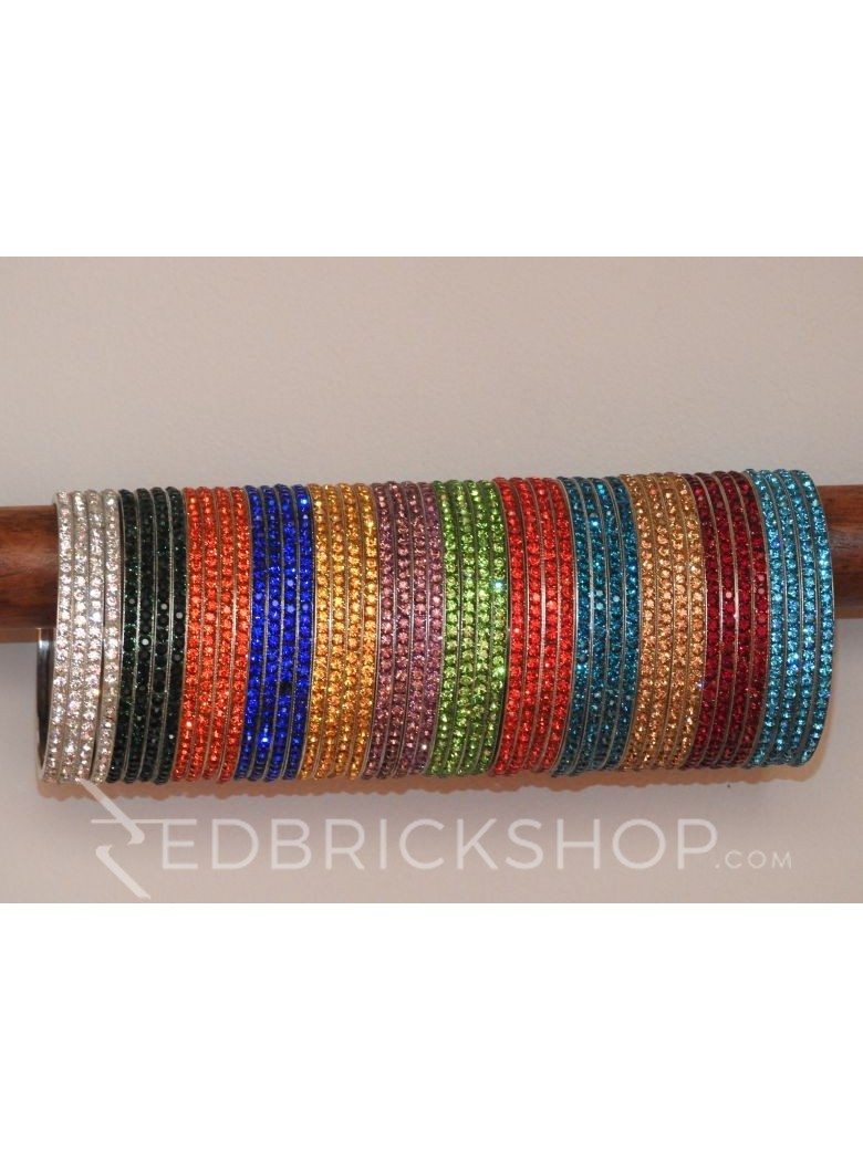 LAC MULTI STONE BANGLES (4 IN SET)