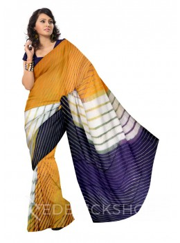 LEHERIYA YELLOW, PURPLE, GREEN, WHITE COTTON KOTA SAREE