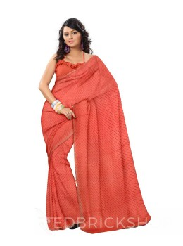 SINGLE LEHERIYA ROSE COTTON SAREE