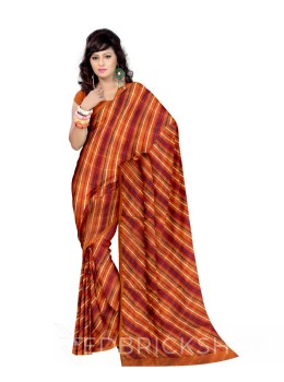 DOUBLE LEHERIYA MUSTARD COTTON SAREE