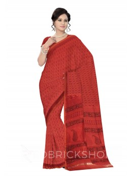 MAHESHWARI PAISLEY SMALL MAROON-BLACK SAREE
