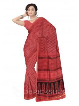MAHESHWARI TREE ROSE-BLACK SAREE