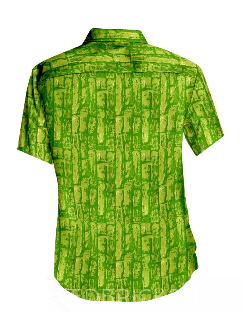 TIE N DYE GREEN MENS COTTON SHIRT - SIZE 40