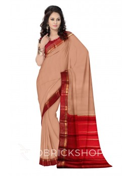 PLAIN STRIPE BORDER GOLD, MAROON MYSORE SILK SAREE