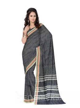 NARAYANPET SMALL CHECKS NAVY BLUE, WHITE COTTON SAREE