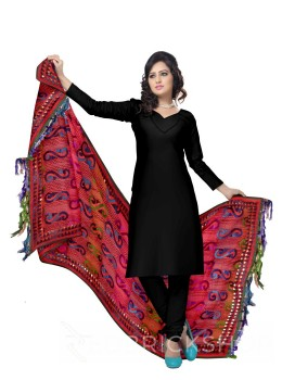 PHULKARI KOLKA TRIANGLE RED, BLUE, PURPLE, GREEN SILK COTTON DUPATTA
