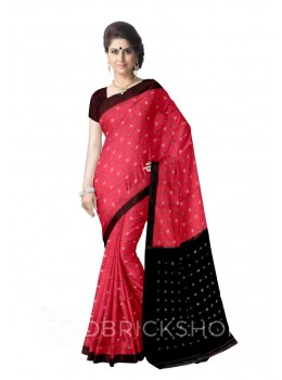 POCHAMPALLY IKKAT MAGENTA, MAROON, BLACK COTTON SAREE