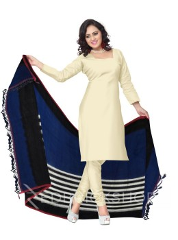 POCHAMPALLY IKKAT STRIPES BLUE, BLACK, WHITE COTTON DUPATTA