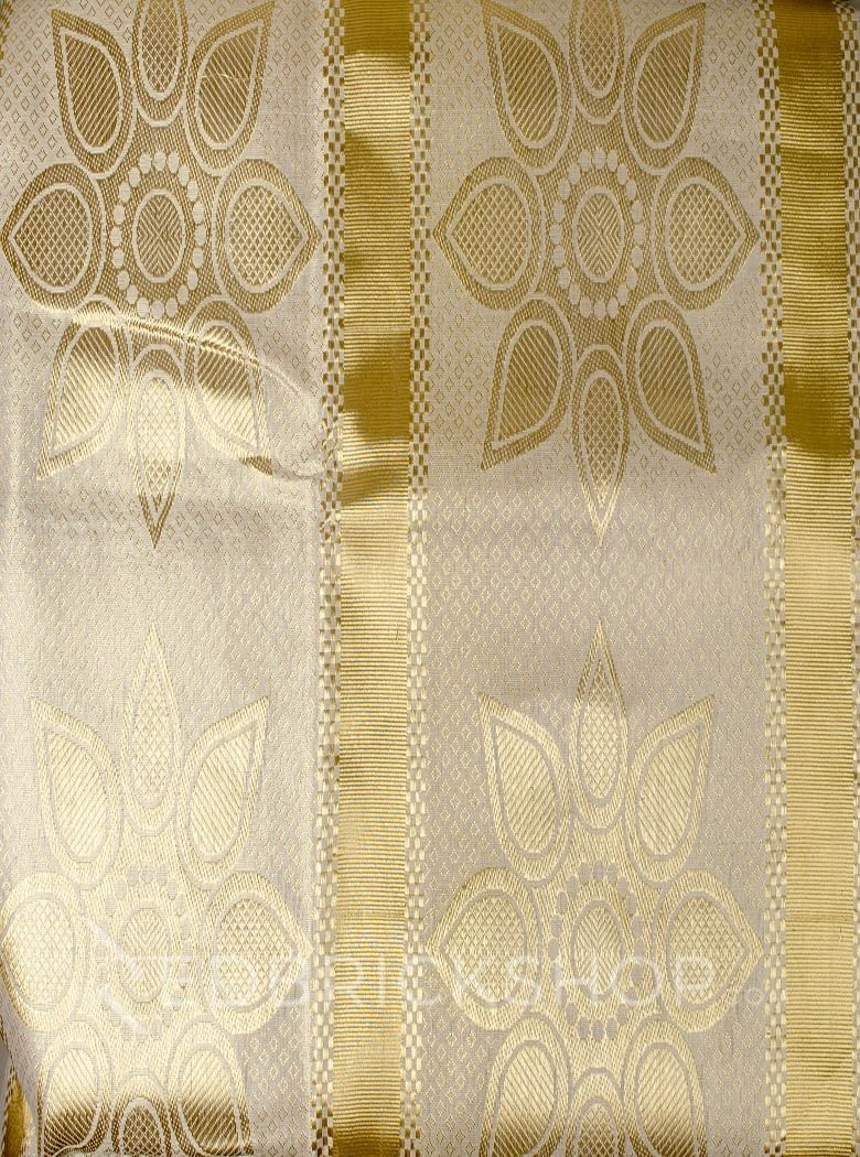 KASAVU RANGOLI GOLD COTTON SAREE