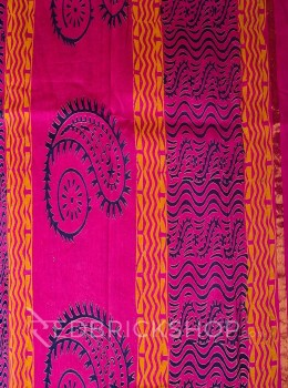 CHANDERI FLORAL FUCHSIA-GREENSAREE