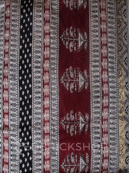 MAHESHWARI FLORAL WIDE CREAM-BLACK-MAROON SAREE