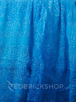TIE N DYE TURQUOISE COTTON SAREE