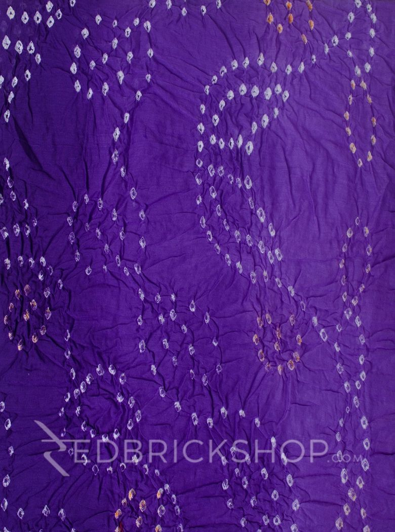 TIE N DYE PURPLE COTTON SAREE