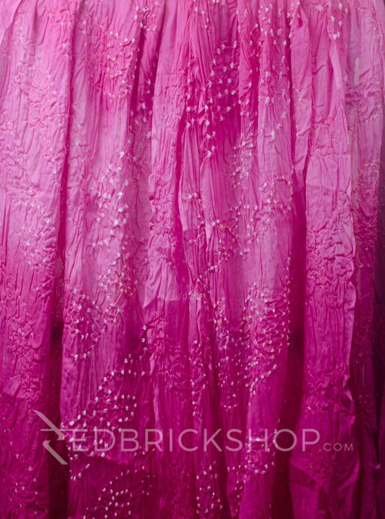 TIE N DYE PINK COTTON SAREE