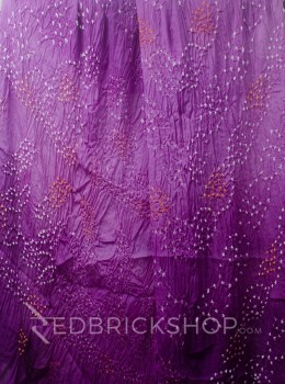 TIE N DYE MAUVE COTTON SAREE