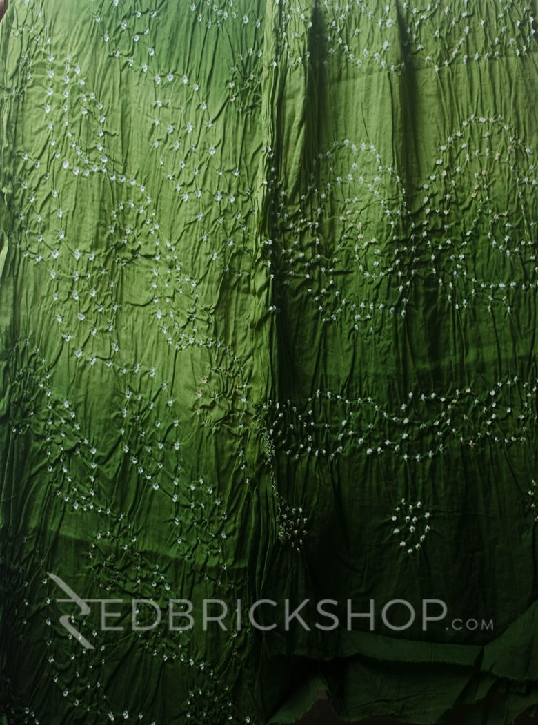 TIE N DYE GREEN COTTON SAREE
