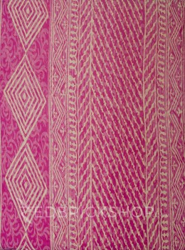 BLOCK PRINT PAISLEY PINK COTTON SAREE