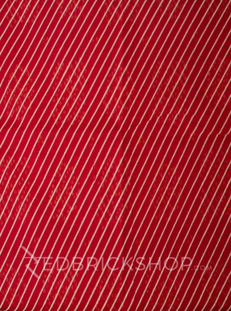 LEHERIYA RED COTTON SAREE