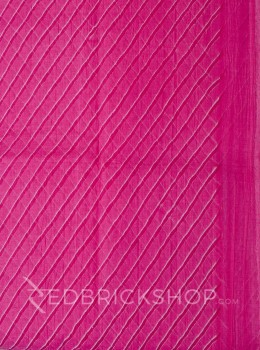 SINGLE LEHERIYA PINK COTTON SAREE