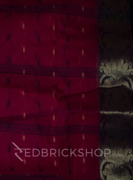 TANGAIL ZARI ROSE COTTON SAREE