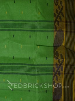 TANGAIL LEAF GREEN COTTON SAREE