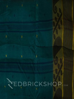TANGAIL LEAF TEAL COTTON SAREE