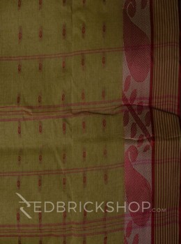 TANGAIL LEAF BEIGE COTTON SAREE