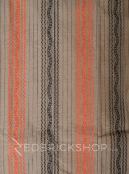 TANGAIL STRIPE BEIGE-ORANGE COTTON SAREE