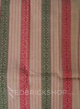 TANGAIL STRIPE BEIGE-RED COTTON SAREE