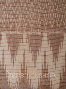 DHONEKHALI IKAT BROWN COTTON SAREE