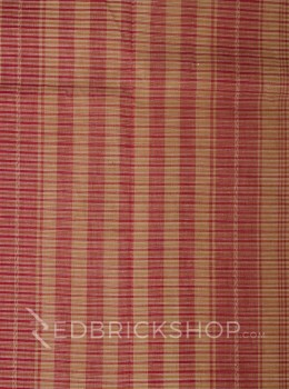 DHONEKHALI BROAD STRIPE RED COTTON SAREE